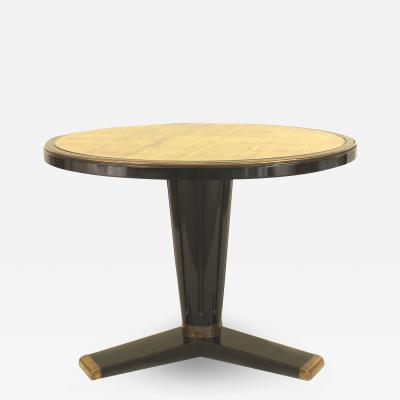 French Art Modern Jansen Ebonized Center Table
