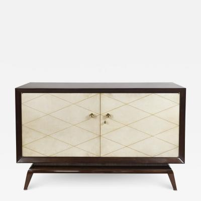 French Art Moderne Parchment Sideboard