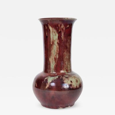 French Art Nouveau Flambe Glazed Vase