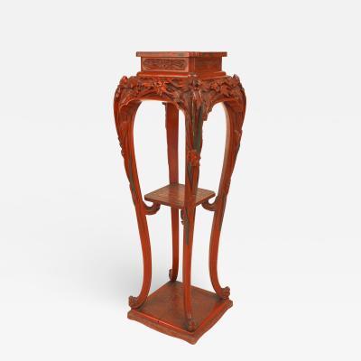 French Art Nouveau Lacquered Pedestal