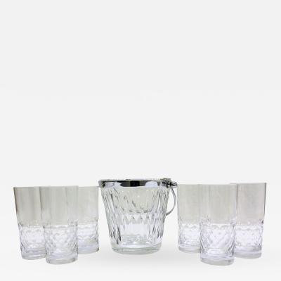 French Baccarat Crystal Liquor Set