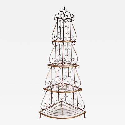 French Baker Rack Iron Brass