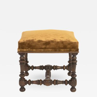 French Baroque Style Upholstered Stool circa 1890