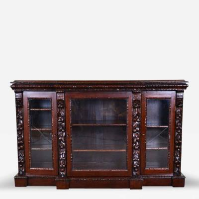 French Bookcase Henry II Glass Doors