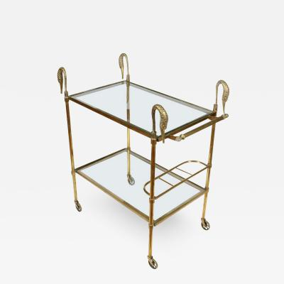 French Brass and Glass Bar Cart