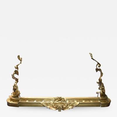 French Bronze Louis XV Style Rococo Chenets