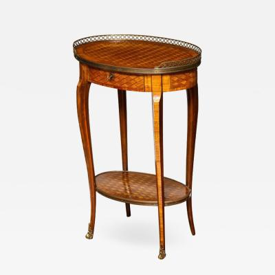 French Bronze Mounted Parquetry Occasional Table