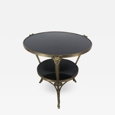 French Bronze and Stone Gueridon Table