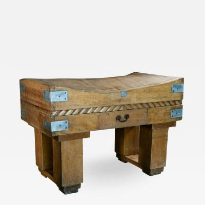 French Butchers Block on Stand