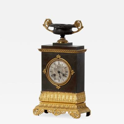 French Charles X bronze clock