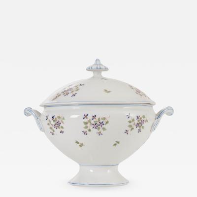 French Cornflower Pattern Old Paris Porcelain Tureen