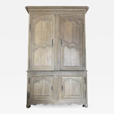 French Country Provincial Louis XV Style Armoire