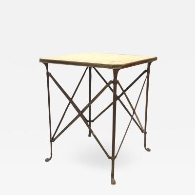 French Directoire Bronze Marble Top End Table