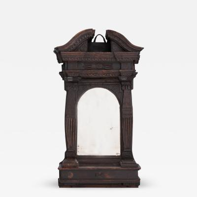 French Early 18th Century Church Altar Mirror