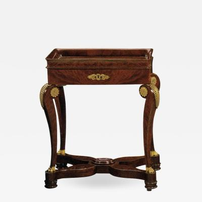 French Early 19th Century Empire Mahogany and Ormolu Mounted Occasional Table