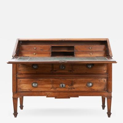 French Early 19th Century Transitional Secr taire Abattant