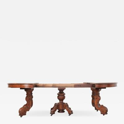 French Early 20th Century Extending Mahogany Dining Table