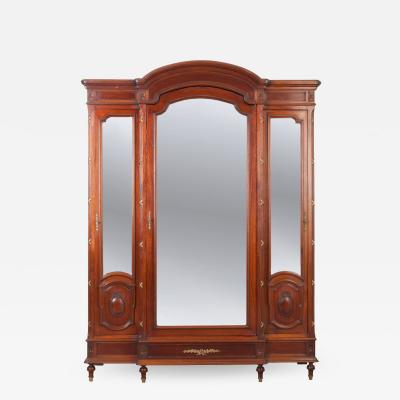 French Early 20th Century Louis XVI Style Three Door Oak Armoire