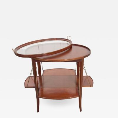 French Early 20th Century Oval Mahogany Tea Table
