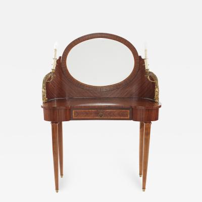 French Empire Bronze Mahogany Vanity