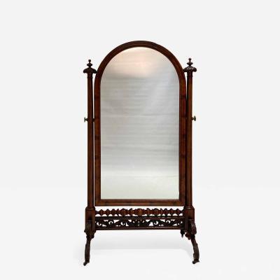 French Empire Cheval Mirror Circa 1825