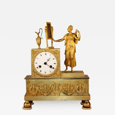 French Empire Figural Clock