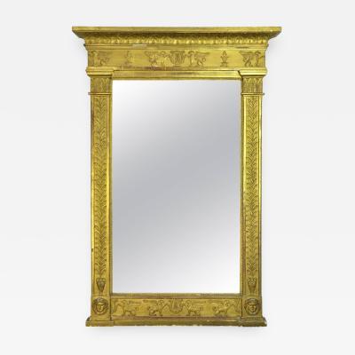 French Empire Gilt Neoclassical Mirror