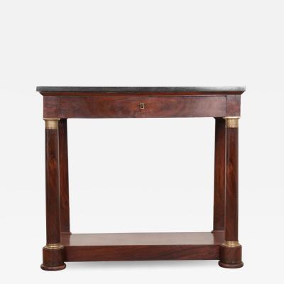 French Empire Mahogany Console Table