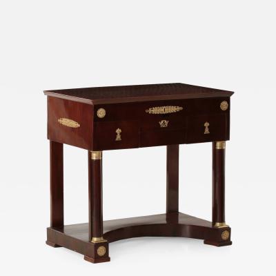 French Empire Ormolu Mounted Mahogany Dressing Table c 1820