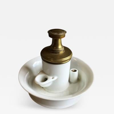 French Empire Porcelain Inkwell