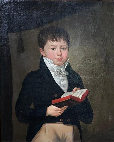 French Empire Portrait of Boy circa 1810