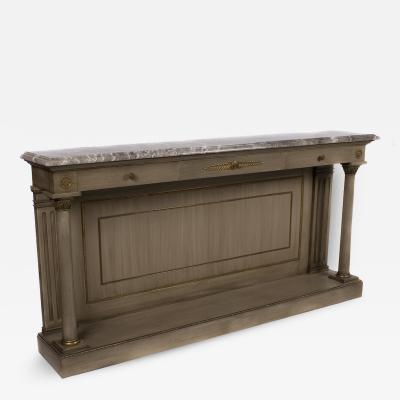 French Empire Style Glazed Finish Console circa 1940s