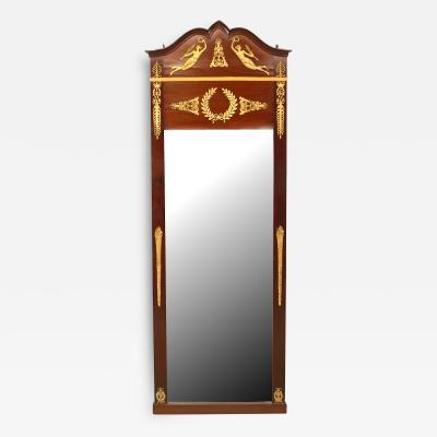 French Empire Style Mahogany and Ormolu Wall Mirror
