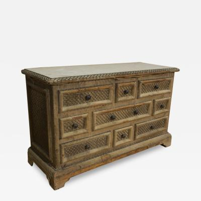 French Fabric Commode
