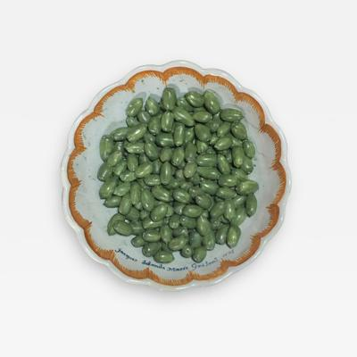 French Faience Tromp Loeil Bowl with Olives Nevers Dated 1774