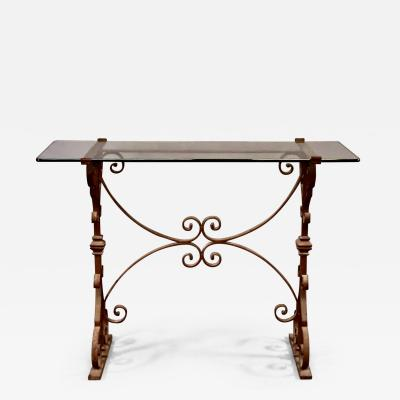 French Forged Iron Console