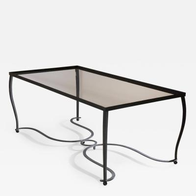 French Forties Hand Forged Iron Dining Table