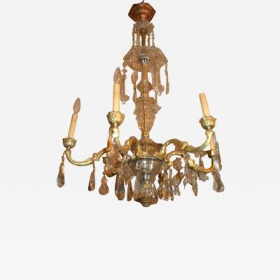 French Gilt Bronze Cut Crystal Chandelier
