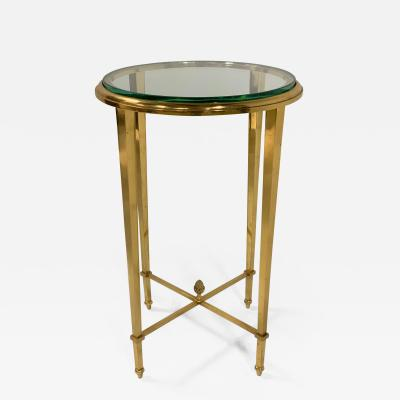 French Gilt Bronze and Glass Gueridon Table