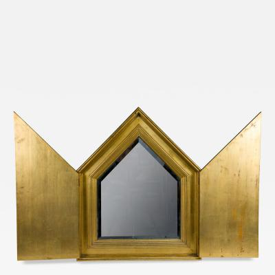 French Gilt Mirror with Doors