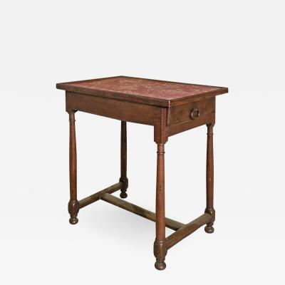 French Henry II period small walnut table late 16th Century
