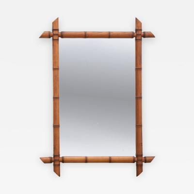 French Late 19th Century Faux Bamboo Mirror