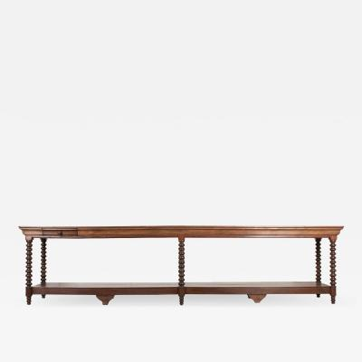 French Louis XIII Style Oak Drapery Table