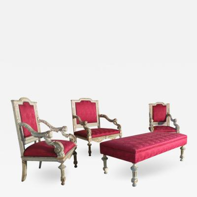 French Louis XIV Style Salon Suite in the Manner of Gue ret Fre res