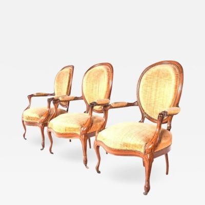French Louis XV Armchair Wooden Fram