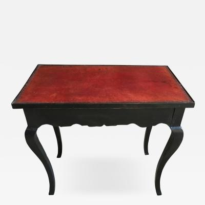 French Louis XV Leather Top Side Table