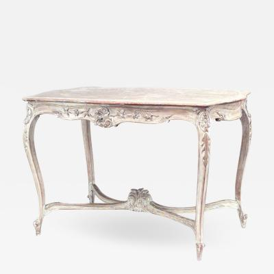 French Louis XV Style Bleached Center Table
