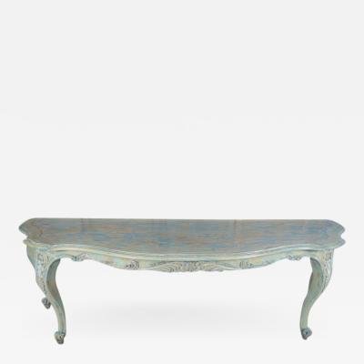 French Louis XV Style Painted Console circa 1940s