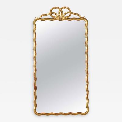 French Louis XVI Gilded Wood Mirror