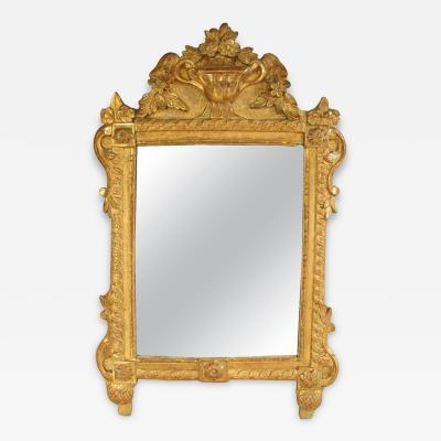 French Louis XVI Richly Carved Mirror for Vanity or Wall 18th Century